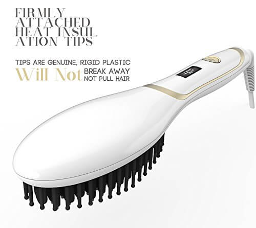 Hair Straightener Brush Magictec